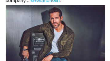 Ryan Reynolds gin tweet